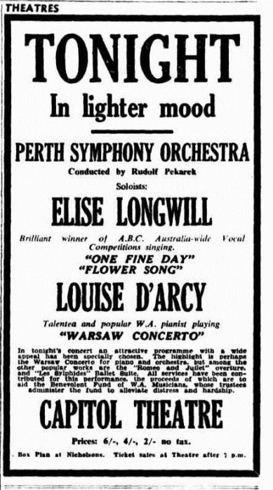 Advertisement, The West Australian, Perth WA, August 4, 1950, 35. Trove.nla.gov.au